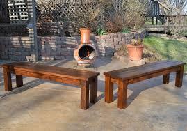 bench rustic patio bench kruses workshop simple indooroutdoor