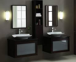 Glass Bathroom Storage Black Brown Bathroom Decoration Using Cylinder White Glass