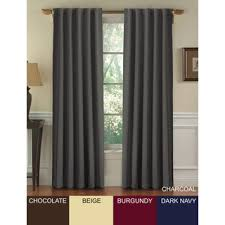 95 Inch Curtain Panels Overstock Posh Insulated Blackout 95 Inch Curtain Panel