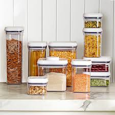 what to put in kitchen canisters oxo pop containers williams sonoma