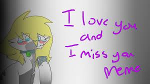I Love L Meme - i love you and i miss you meme youtube