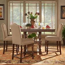 Tall Dining Room Sets Homesullivan Madison 5 Piece Sand Beige Counter Height Dining Set