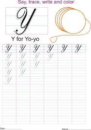 cursive captial letter u0027y u0027 worksheet