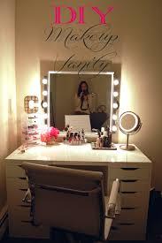 Bedroom Mirror Lights Makeup Vanity With Lights On Mirror Lights For Bedroom Vanity You