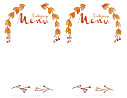 free thanksgiving menu brown paper bunny studio