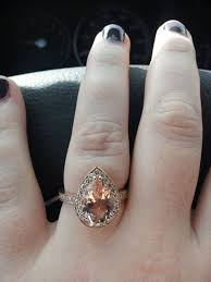 morganite pear engagement ring my custom morganite engagement ring weddingbee
