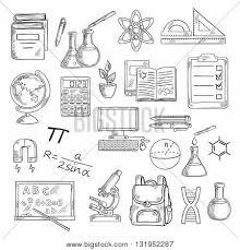 supplies sketch symbols vector u0026 photo bigstock