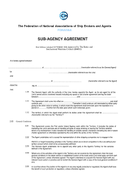 sub agency agreement arbitration law of agency