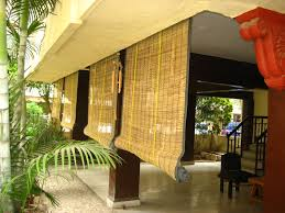 Outdoor Roll Up Shades Lowes by Decorating Interesting Windows Design With Matchstick Blinds