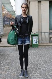 leather biker style boots model street style staple the black leather biker jacket the