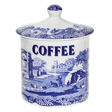 spode blue italian canister coffee peter u0027s of kensington