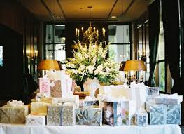 wedding gift table these wedding gifts are elegantly wrapped and displayed on a
