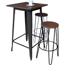 Bar Table And Stool Tolix Bar Table 60x60xm Black Hairpin Black Silver 800x800cm Jpg