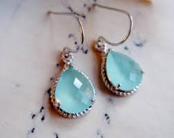 aquamarine drop earrings aquamarine teardrop etsy