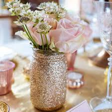 jar vase gold glitter jar vase by the wedding of my dreams