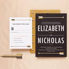 hip hollywood glam modern black gold white fall invitations reply