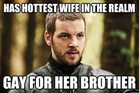 Stannis Baratheon Memes - gameofthrones memes the gay king renly baratheon game of thrones
