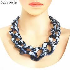 chain necklace diy images Ufavoirte brand diy statement necklace handwork punk big acrylic jpg