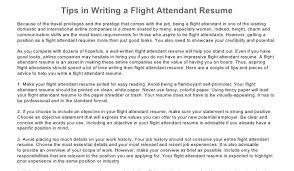 Sample Of Flight Attendant Resume by Flight Attendant Resume Tips Writing Resume Sample Writing
