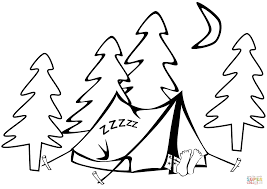 tent coloring pages printable images kids aim
