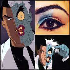 batman the animated series u0027 two face inspired eye makeup comic