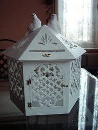 urne de mariage cage à oiseau urne pour mariage dentelle de bois