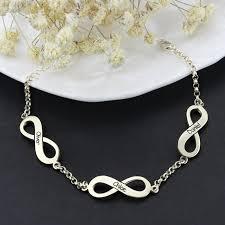 personalized infinity name bracelet sterling silver custom