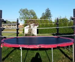 trampoline wrestling ring 5 steps