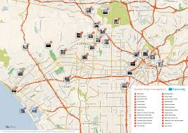 Map Of Los Angeles County Maps Update 21051488 Hollywood Tourist Attractions Map Los Map Of