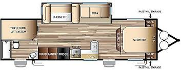triple bunk travel trailer floor plans 2017 evo model 2700 travel trailer triple bunks on power lift