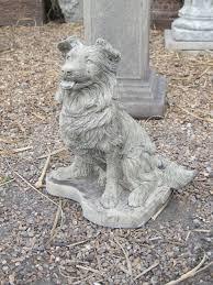 collie puppy statue large garden ornament s s shop