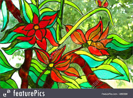 painting on glass windows stained glass painting photo