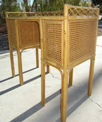 Letter Furniture 1950s French Rattan Cane And Bamboo Letter Desk By Jean Royere