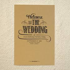 lettered rustic diy kraft paper wedding program