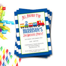 First Birthday Invitation Cards For Boys Train Birthday Invitation Train Party Train Invite Boy Birthday