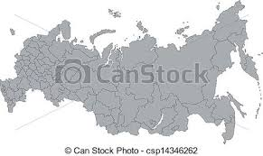 russia map after division gray russia map administrative division of the russian clip