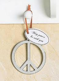 amazon com beautiful 3 metal peace sign tree ornament