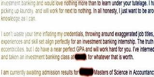 cover letter for student internship student sends great cover letter for internship at bank and it u0027s