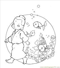 buddha fish coloring free fish coloring pages