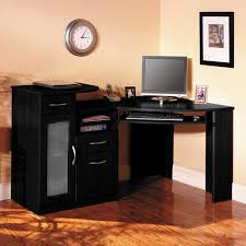 Black Corner Office Desk Funiture Corner Office Desk Ideas Using Corner Black Oak Wood