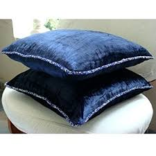 amazon com navy blue throw pillows cover for couch solid color