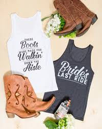 country bachelorette party shirts bride u0027s last ride u0026