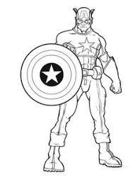 Captain America Color Page Captain America Coloring Pages Free Captain America Coloring Page