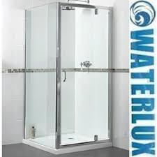 800mm Pivot Shower Door Shower Enclosure With 760mm Pivot Door 760x800mm Waterlux Ax