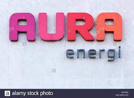aura energi logo on a wall aura energi provides electricity