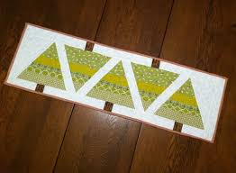 xmas tree on table o christmas tree table runner tutorial may chappell