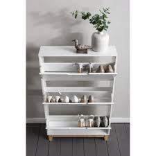 White Shoe Storage Cabinet Shoe Storage Olso Shoe Storage Unit In White And Noa