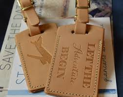 luggage tag favors leather luggage tag wedding favors by porterleather