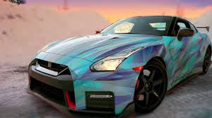 gtr nissan nismo nissan gtr nismo wrapped in blue ice youtube