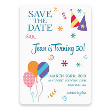 Save The Dates Postcards Birthday Bash Save The Date Postcards